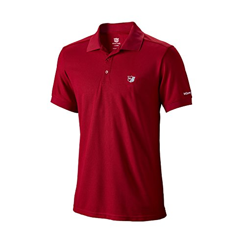Wilson Golf Homme Polo de Sport, AUTHENTIC POLO, Polyester, Rouge (Wilson Red), Taille: XXXL,...