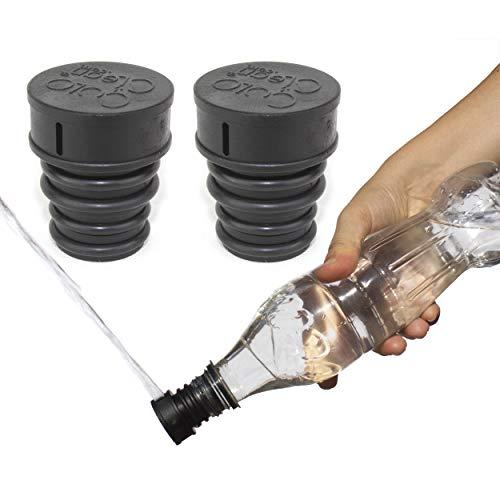 2x CuloClean - Bidé De Mano. El bidet portátil más Discreto. Compatible con cualquier botella de plástico. De viaje, wc con agua caliente, ducha sanitaria, inodoro, acoplable, tapón