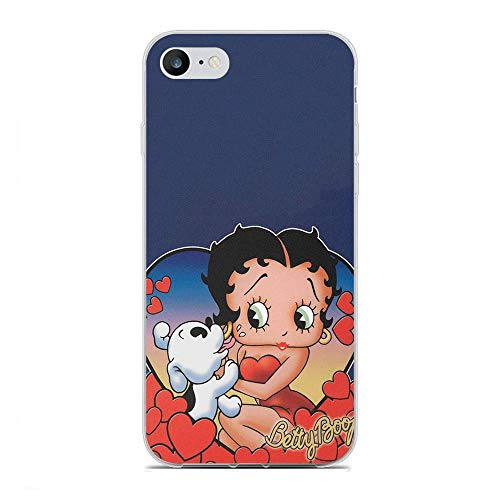 QNNN Transparent Silicone TPU Shockproof Clear Case Compatible with Apple iPhone 6/6s-Lovely Betty-Boop Dog 10