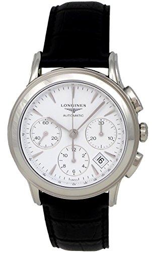 Longines Flagship Automatic Chronograph Steel Mens Luxury Strap Watch Calendar L4.803.4.12.2