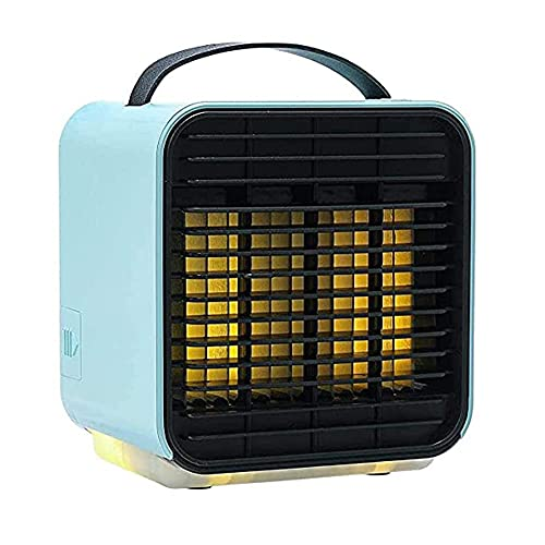 QAWSED Mini Condizionatore D'Aria Condizionatore D'Aria Portatile, Mini Ventola Di Raffreddamento, Condizionatore D'Aria A Raffreddamento Rapido Con Luci A Led, Umidificatore Usb C