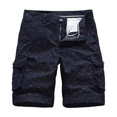 XIEPEI Shorts Summer Men's Tooling Five-Point Pants Straight Cotton Cotton Casual Pants