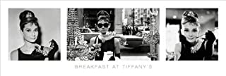 Breakfast at Tiffany's Triptych Classic Movie Poster Print (Audrey Hepburn) 12 by 36