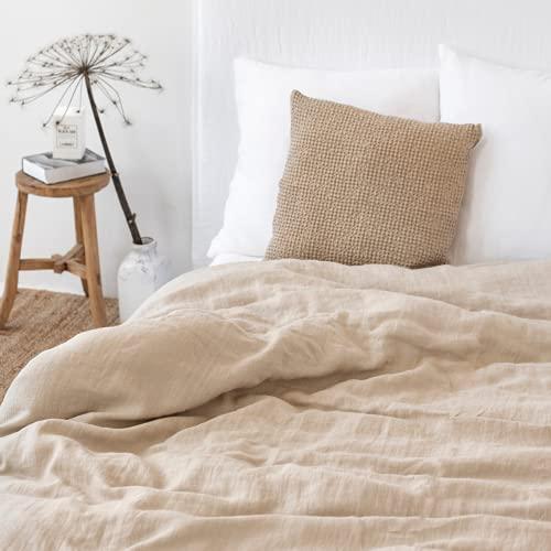 MagicLinen Linen Duvet Cover - Duvet Cover for King Size Bed - Linen Bedding - Natural Color - King Size