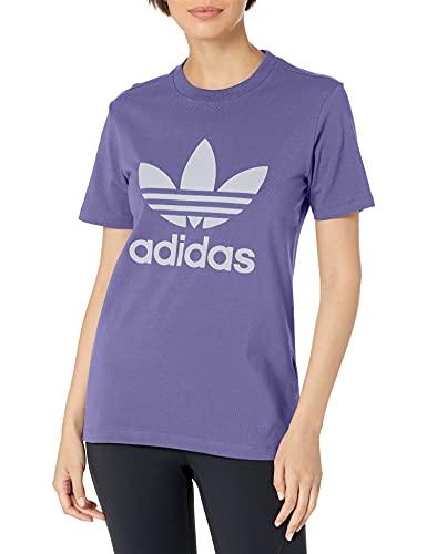 adidas Originals Trefoil - Camiseta para mujer - Morado - XX-Small