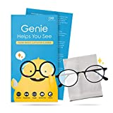 Genie Magic Cloth   Lingettes de nettoyage anti-buée pour lunettes   Chiffon de nettoyage réutilisable en microfibre pour lunettes   Casque de moto, appareil photo, lunettes de protection antibuée pour masques