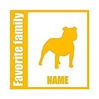 ForzaGroup 全犬種 全猫種対応 スタッフォードシャーブル (134-36) 犬 イヌ 車 ステッカー 名前入れ