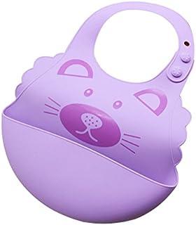 Smartrich - Baberos ajustables de silicona para bebé con