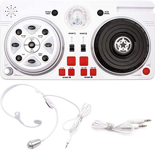 Controller DJ – Party Mixer Platino giocattolo per bambini DJ set con microfono e sfera da discoteca divertente per bambini