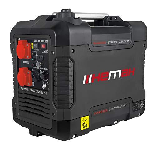 HEMAK Tragbarer Inverter Stromerzeuger mit USB 1900 Watt Optimal für Camping und Garage HK-PG 2000i Benzin 4 takt Silent