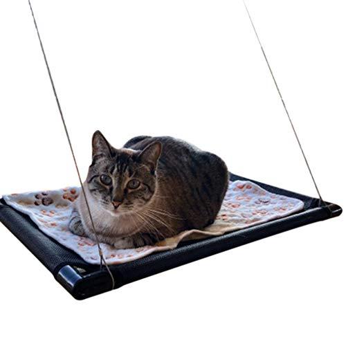 Classicoco hangmat voor ramen, hangmat met zuignappen, voor katten, kattenbed, kattenhangmat, zitstang aan de muur, afneembaar, om op te hangen, met zuigfunctie