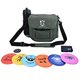 CROWN ME Disc Golf Set, Disc Golf Starter Set,Includes 1pc Bag with Water Bottle Pocket and Accessory Pocket, 2pcs Drivers, 2pcs Mid-Ranges, 2pcs Putters, 1pc Mini Disc Marker and 1pc Towel