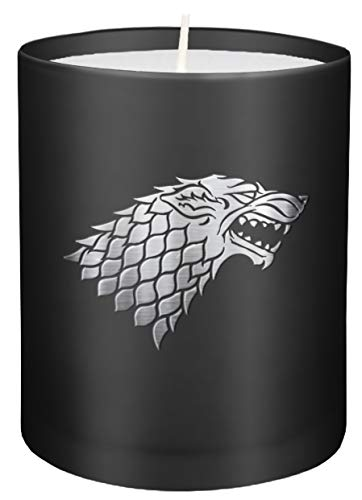 Game of Thrones: House Stark Large Glass Candle