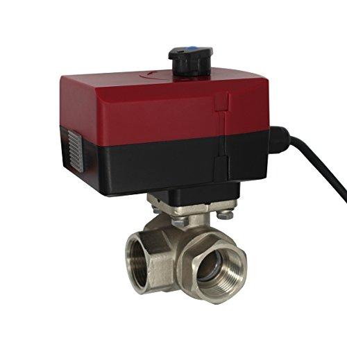 Motorventil, 3 Wege, AC 220 V 24 V - Motorisiert oder manuell, Typ L - elektrisches Kugel-Ventil DN20, DN25, DN32