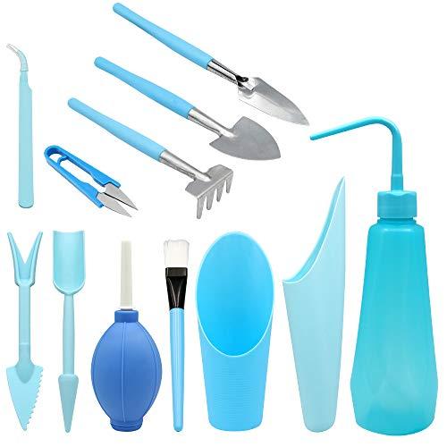 12 piezas kit de herramientas de transplantar suculentas Mini jardín Plantación de Herramientas de mano conjunto