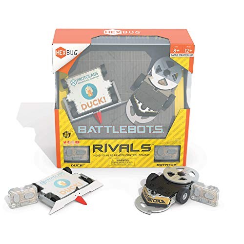 HEXBUG BattleBots Rivals 5.0 (Rotator and Duck!) Toys for Kids - Fun Battle Bot Hex Bugs - Remote Controlled Robot Toy - Batteries Included - Ages 8 and up