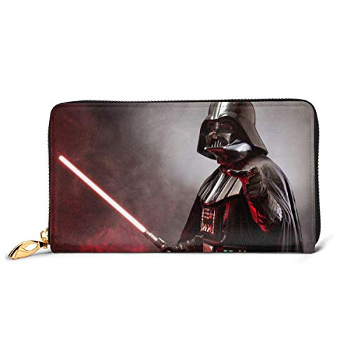 AOOEDM Leather Wallet Darth Vader Geldbörse Blockieren Original Leder Geldbörse Reißverschluss um Kartenhalter Organizer Clutch