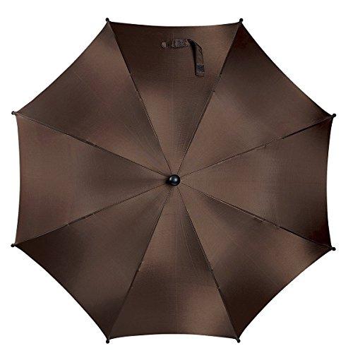REER Sonnenschirm mit UV-Schutz 50+ Wetterschutz, braun