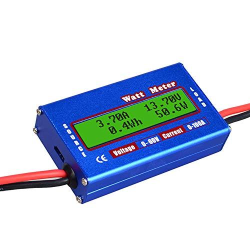 KKmoon100A High Precision Power Analyzer Wattmeter Batterieverbrauch Leistungsüberwachung mit LCD-Hintergrundbeleuchtung für RC, Batterie, Solar, Windenergie