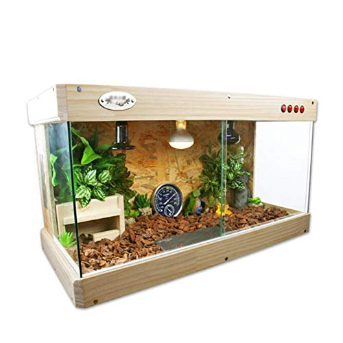 Vivarium de mascotas Caja de jaula de crianza de reptiles OSB, caja de tortuga bien ventilada en interiores Jardín Hábitat de serpientes de rana (83 * 41.5 * 43 cm) Caja de cría de decoración de casa