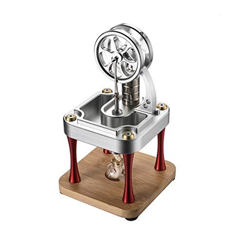 Oeasy Stirlingmotor Bausatz, Wassergekühltes Hochtemperatur Metall Stirling Engine Science Experiment-Spielzeug für Erwachsene und Kinder