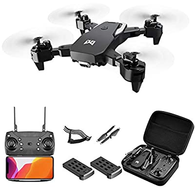 Yxs 4K Ultra HD Drone with Dual Camera, 2Battery RC Quadcopter for Adults, 50x zoom, Auto Return Home,Gravity Sensing Control, Automatically recognize