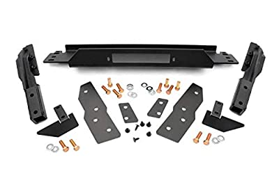 Rough Country Winch Mounting Plate (fits) 1999-2004 Jeep Grand Cherokee WJ | Frame Mount Bracket | 1064