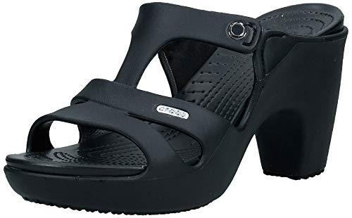 Crocs Cyprus V Heel Women, Mujer Tacón, Negro (Black/Black), 36-37 EU