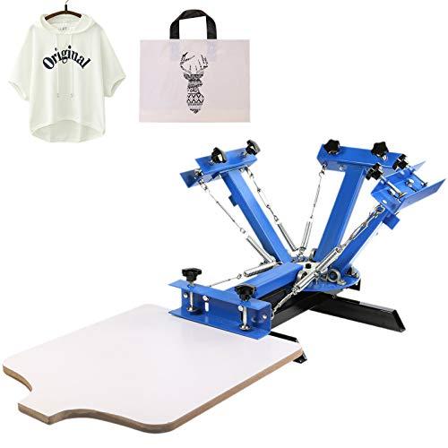 VEVOR NS401-S Silk Screen Printing Machine 4 Farbe 1 Station Siebdruckmaschine DIY Screen Press Printing Machine Siebdruck Set