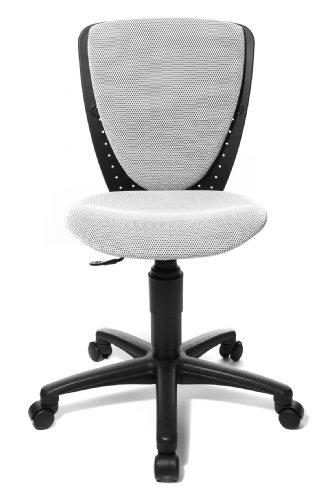 Topstar 70570BB70 High S'cool, Kinder- und Jugenddrehstuhl, Schreibtischstuhl für Kinder, Bezugsstoff weiß