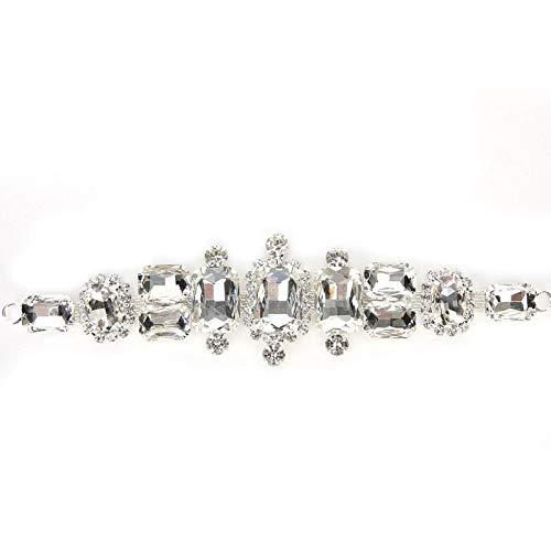 Omabeta Taladradora de cristal resistente y duradera con diseño de estrás, para vestido de boda, fiesta, Bridal (Style Four)