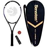 Senston Racchetta da Tennis da 27'' con Custodia Premium per Il Trasporto, Set di Racchetta da Tennis, Include 1 Overgrip + 1 ammortizzatori per Vibrazioni
