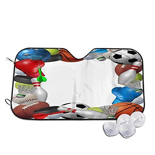 Parasol para Coche,Equipo Deportivo de Baloncesto, Boxeo, Golf,,Parabrisas de prevención de Calor Parasol Protector de Visera de Rayos UV 55'X29.9'
