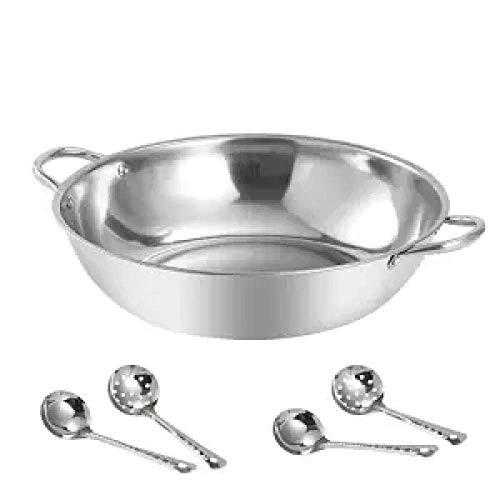 Pentola Hot Pot Pot ispessite Pot della minestra casalinghi in Acciaio Inossidabile Hot Pot Bacino Fornello Hot Pot Speciale Ming 30cm Pot della minestra con Huangwei7210 (Color : 28cm Soup Pot)