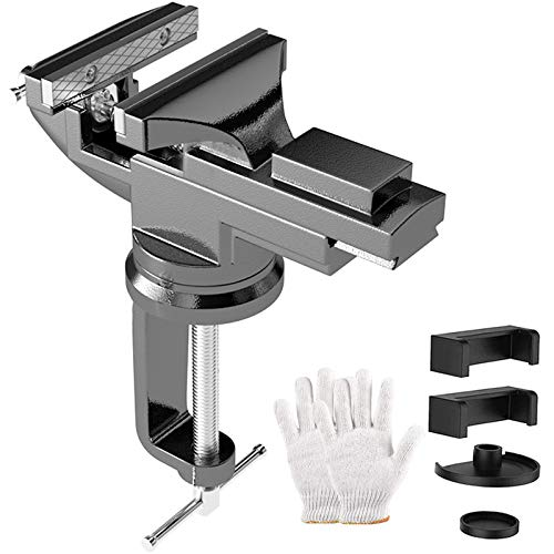 Universal Table Vise 80MM Jaw Width, 360°...