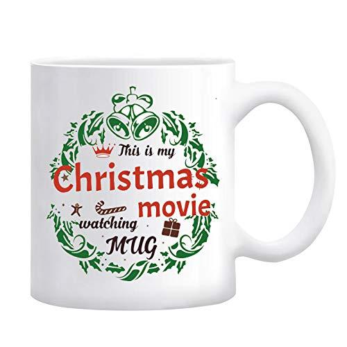 This Is My Christmas Movie Watching Mug Christmas Movie Mug Hallmark Movie Watching Mug I Just Want To Watch Hallmark Christmas Movies Mug White 11 Ounce