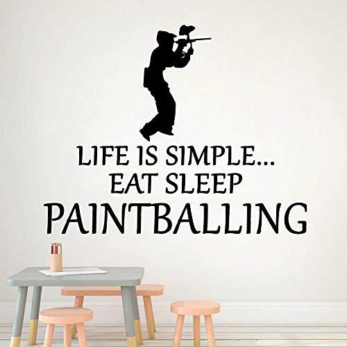 JXAA Mode Cartoon Paintball Wandtattoo Wandbild Kunst Poster Wasser Aufkleber wasserdichte Baby Zimmer Dekoration28x35cm