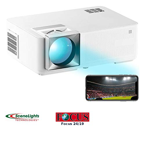 SceneLights Beamer Airplay: LED-LCD-Beamer mit WLAN, Media-Player, 1280x800 Pixel (WXGA), 3.000 lm (Beamer WiFi)
