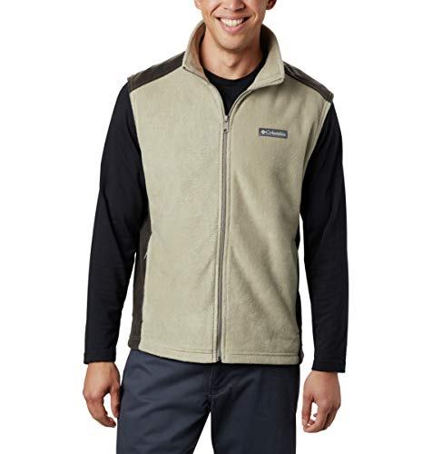 Columbia Men's Size Steens Mountain Full Zip Soft Fleece Vest, Tusk, Buffalo, Large Tall