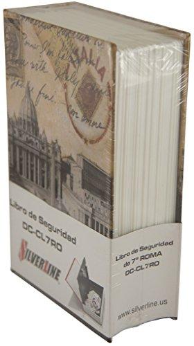 Silverline DC-CL7RO Caja de Seguridad en Forma de Libro, Estructura de Acero Sólido de 6 mm