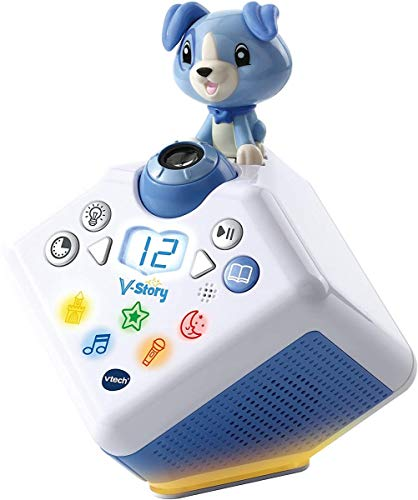 Vtech 80-608074 V-Story, die Hörspielbox, Musik-und Geschichtenbox, blau
