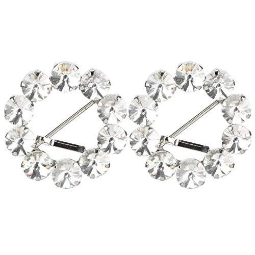 Hebilla de pasador de cristal de diamantes de imitación de 2 uds...