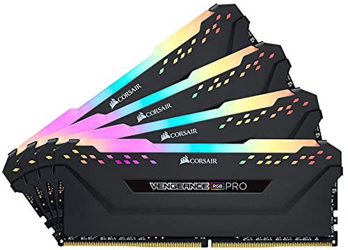 Mémoire de Bureau Corsair Vengeance RGB Pro 128 Go 4x32 Go DDR4 3000 PC4 24000 C16 Black CMW128GX4M4D3000C16
