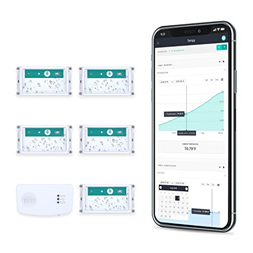 Tablets /& Computers Tempy.io 2 Wireless Thermometer /& Hygrometer Monitoring Battery Powered /& Long Range Indoor//Outdoor Smart Temperature /& Humidity Sensor w//Web App /& Alerts for iPhone//Android
