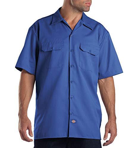 Dickies Herren Regular Fit Freizeit Hemd Shrt/S Work Shirt, Kurzarm, Blau (Royal Blue RB), Gr. Medium (Herstellergröße: M)