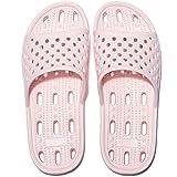 Zapatillas de Ducha para Mujeres Antideslizantes Chanclas y Sandalias de Piscina Sandalias de Baño (Rosa, 38)