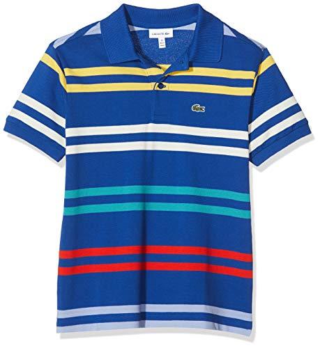 Lacoste Jungen Pj4911 Poloshirt, Blau (Ionienne/Multico Xdw), 10 Jahre (Herstellergröße: 10A)
