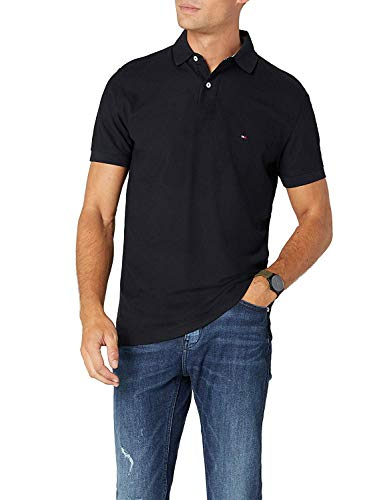Tommy Hilfiger Core Hilfiger Regular Polo, Negro (Flag Black 060), XX-Large para Hombre
