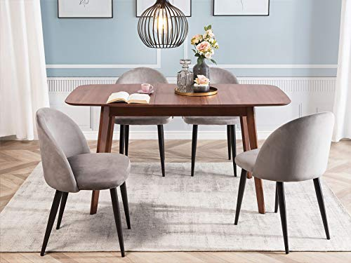 Beliani - Table Extensible - Madox - 120/150 x 75 cm, en MDF et Bois, Bois Foncé