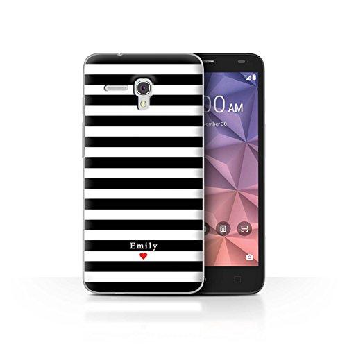 Stuff4Phone Case/Cover/Skin/alcfrxl/Custom Stripes/Striped Collection Coeur Rayure Noir